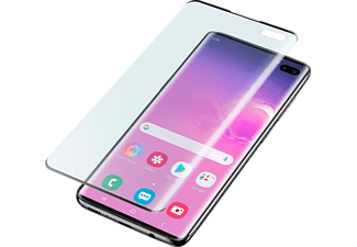 CELLULARLINE Beschermglas Tempered Glass Galaxy S10+ Zwart (TEMPGCUGALS10PLK)