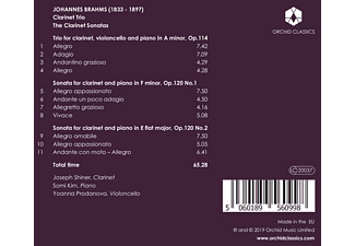 Joseph Shiner, Kim Somi, Yoanna Prodanovo - Brahms: Klarinettentrios und Sonaten  - (CD)