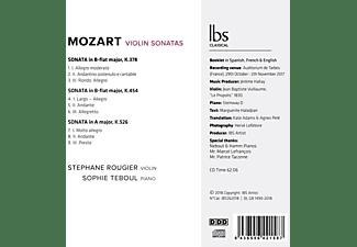 Stephane Rougier, Sophie Teboul - Violinsonaten K 378,K 454,K 526  - (CD)
