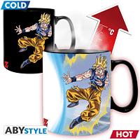ABYSTYLE DRAGON BALL Thermoeffekt 460 ml DBZ/ Goku VS Buu Tasse, Mehrfarbig