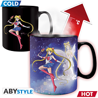 ABYSTYLE Sailor Moon Thermoeffekt 460 ml Sailor&Chibi Tasse, Mehrfarbig