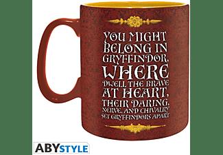 HARRY POTTER Fanpaket Tasse, Schlüsselanhängers, Buttons Gryffindor