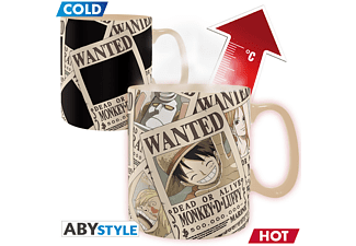 ABYSTYLE ONE PIECE Thermoeffekt 460 ml Wanted Tasse, Mehrfarbig