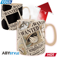 ABYSTYLE ONE PIECE Thermoeffekt 460 ml Wanted Tasse, Mehrfarbig