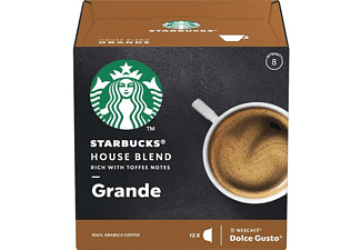Cápsulas monodosis - Starbucks House Blend Grande, Intensidad 8, 12 cápsulas, Para Dolce Gusto