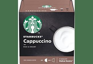 Cápsulas monodosis - Starbucks Cappuccino, 6+6 cápsulas, Para Dolce Gusto