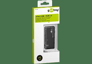 GOOBAY 4-fach USB 2.0 Hi-Speed HUB/Verteiler, USB HUB, Schwarz