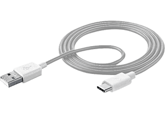 CELLULARLINE USB-A / USB-C Kabel 1 m Wit (USBDATATYCSMARTW)