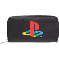 DIFUZED Playstation Damen Zipper Geldbörse Geldbörse, Schwarz