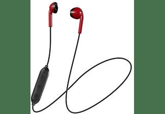 Auriculares inalámbricos - JVC HA-F19BT-RBE, Botón, Bluetooth, 6.5 H, Compatible asistente voz, Rojo