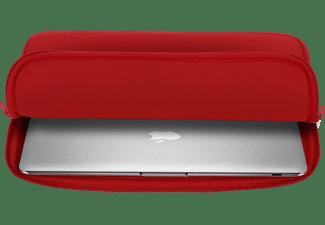 RIVACASE Red Notebooktasche Sleeve für Universal Memory Foam Neoprene, Rot