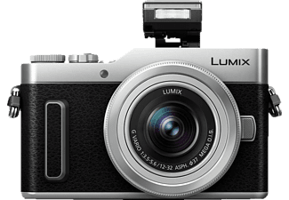 PANASONIC DC-GX 880 Systemkamera mit Objektiv 12-32 mm, 7,5 cm Display, WLAN