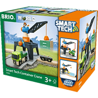 BRIO Smarttech-Verladekran RW Destinations, Mehrfarbig