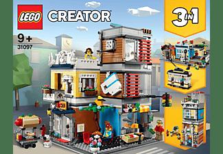 LEGO 31097 Stadthaus mit Zoohandlung & Café Bausatz, Mehrfarbig