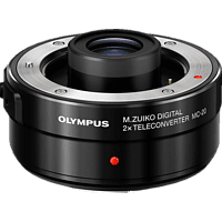 OLYMPUS M.Zuiko Digital MC‑20 2‑fach‑Telekonverter, Konverter, Schwarz, passend für Olympus Kamera