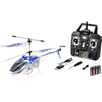 CARSON Easy Tyrann 250 2.4G 100% RTF RC Helikopter, Blau/Weiß