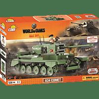 COBI World of Tanks - Bausatz A34 Comet (530 Teile) Bausatz, Grün