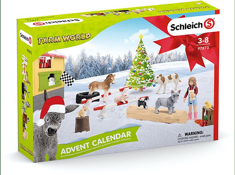 SCHLEICH Adventskalender Farm World 2019 Adventskalender, Mehrfarbig