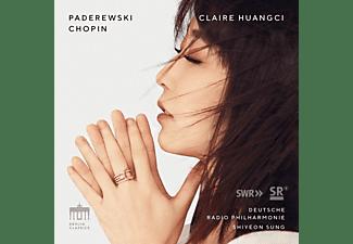 Huangci,Claire/Sung,Shiyeon/DRP, Deutsche Radio Philharmonie Saarbrücken, Claire Huangci - Paderewski/Chopin:Piano Concertos  - (CD)