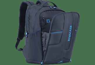 RIVACASE Gaming Notebooktasche Rucksack für Universal Wasserabweisendes High Tech Polyester, EVA Polsterung, Marine Blau