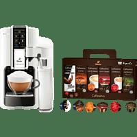 TCHIBO CAFISSIMO Latte Bianco + 60 Kapseln (Espresso, Tee, Filterkaffee, Caffè Crema) Kapselmaschine Weiß