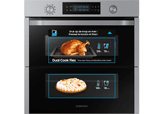 SAMSUNG Multifunctionele oven Dual Cook Flex A+ (NV75N5641RS/EF)