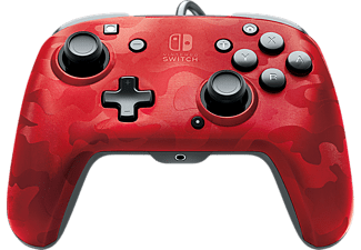 PDP Bedrade controller Faceoff Deluxe + Audio voor Nintendo Switch Red (174214)