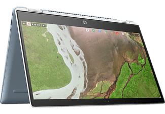 HP Chromebook x360 14-da0002ng, Chromebook mit 14 Zoll Display Touchscreen, Core™ i3 Prozessor, 8 GB RAM, 64 GB eMMC, Intel® UHD-Grafik 620, Weiß