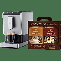 TCHIBO CAFISSIMO 504964 Esperto Caffè Kaffeevollautomat Schwarz/Silber inkl. 2kg Kaffeebohnen