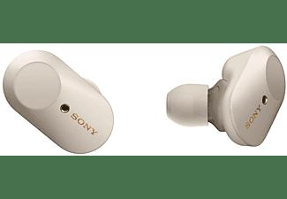 SONY True Wireless Bluetooth In-Ear Kopfhörer WF-1000XM3 mit Geräuschminimierung, Ohrhörer, silber