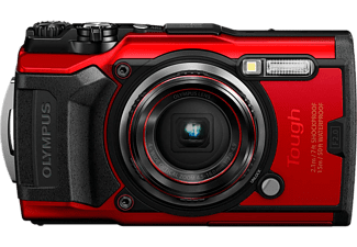 OLYMPUS Compact camera Tough TG-6 Rood (V104210RE000)