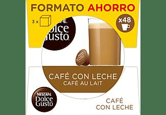 Cápsulas monodosis - Dolce Gusto Café con leche, Pack de 3 cajas de 16 cápsulas (48 en total)