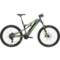 TECHNIBIKE Votaro Full Suspension Mountainbike (27.5 Zoll, 48 cm, MTB, 600 Wh, Grau/Grün)