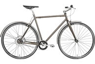TECHNIBIKE Cooper E Urbanbike (28 Zoll, 57 cm, Diamant, 160 Wh, Cocoa)