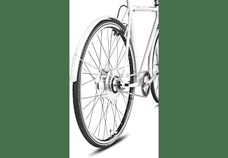 TECHNIBIKE Cooper E Urbanbike (28 Zoll, 57 cm, Diamant, 160 Wh, Weiß Matt)