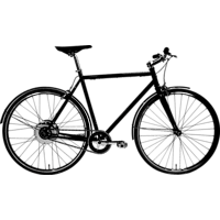 TECHNIBIKE Cooper E Urbanbike (28 Zoll, 61 cm, Diamant, 160 Wh, Schwarz Matt)