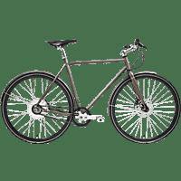 TECHNIBIKE Cooper E Disc Urbanbike (28 Zoll, 57 cm, Diamant, 160 Wh, Cocoa)