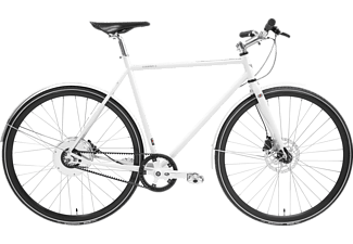 TECHNIBIKE Cooper E Disc Urbanbike (28 Zoll, 61 cm, Diamant, 160 Wh, Weiß Matt)