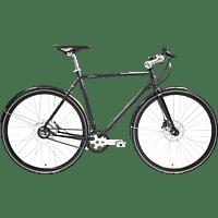 TECHNIBIKE Cooper E Disc Urbanbike (28 Zoll, 61 cm, Diamant, 160 Wh, Schwarz Matt)