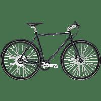 TECHNIBIKE Cooper E Disc Urbanbike (28 Zoll, 57 cm, Diamant, 160 Wh, Monza Blau)