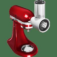 KITCHENAID Veggie Set Artisan 5KSMVSA Küchenmaschine + 5KSM125EOB Gemüseschneider Empire Rot (Rührschüsselkapazität: 4,8 Liter, 300 Watt)