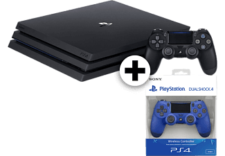 SONY Set PS4 Pro 1TB and 2nd DS4 Blue