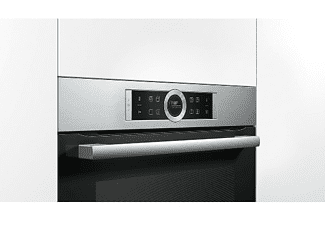 Horno - Bosch CBG675BS3, Compacto, Acero inoxidable, Pirolítico, 45L, LED