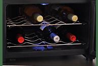 CASO 608 WineCase 8 Weinklimaschrank (144 kWh/Jahr, EEK B, Schwarz)