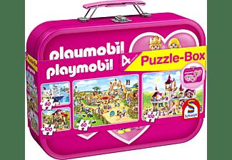 SCHMIDT SPIELE (UE) Puzzle-Box Playmobil im Metallkoffer Puzzle Mehrfarbig
