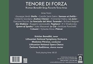 Lithuanian National Symphony Orchestra, Kristian Benedikt - Tenore Di Forza  - (CD)