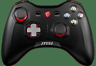 Force GC30 Gaming Controller mit Vibrationssystem (kabellos, bis zu 8 Stunden Akku Laufzeit, schwarz, 212 g)