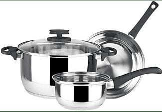 Batería de cocina Teka 49004840 9 piezas, 3 cazuelas, 1