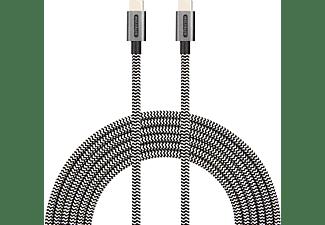 SITECOM USB-C to USB-C Cable 2M 3A 480Mbps Datenkabel/Ladekabel, Weiß/Schwarz