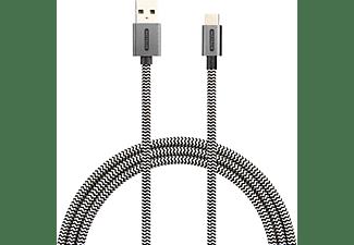 SITECOM USB-C to USB-A Cable 2M 3A 480Mbps Datenkabel/Ladekabel, Weiß/Schwarz